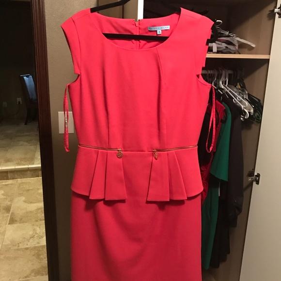 b9a35f9e64 ANTONIO MELANI Dresses   Skirts - Pink peplum Antonio Melani dress